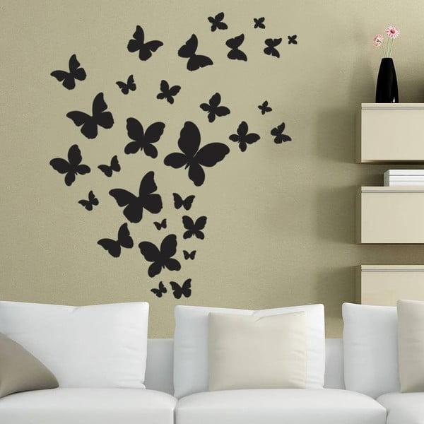 Dekorativní samolepka na zeď Černí motýlci