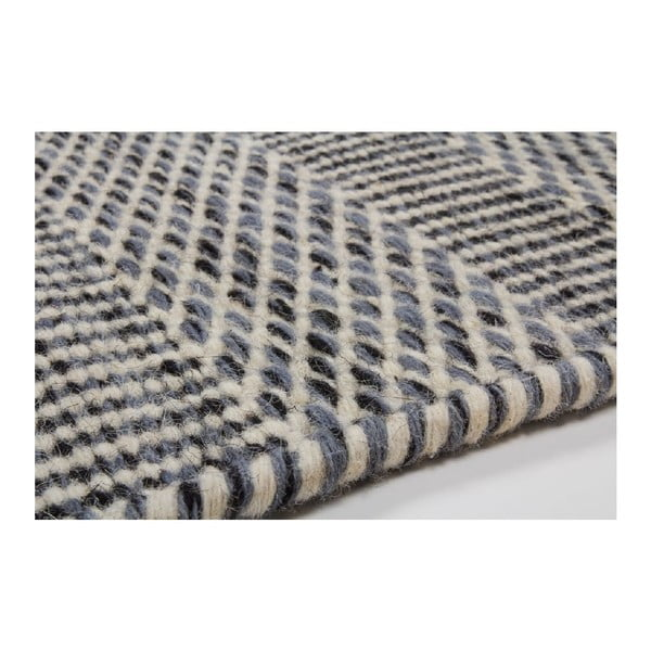 Vlněný koberec Mariposa 120x170 cm, šedý