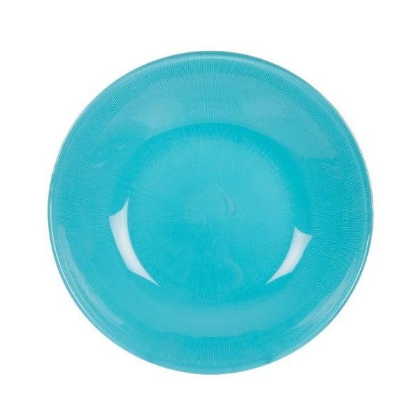 Sada 18 ks keramických talířů Milano Blue
