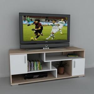 Stolek na televizi Leroy White, 38x140x55,2 cm