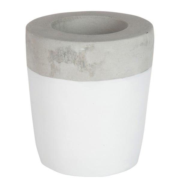 Stojan na svíčku Cement White