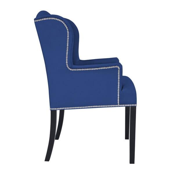 Tmavě modré křeslo Mazzini Sofas Apollo