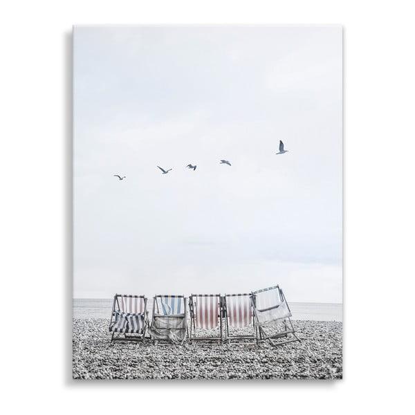 Tablou imprimat pe pânză Styler Sunbeds, 40 x 50 cm