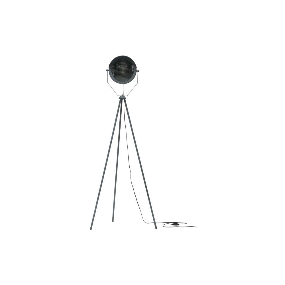 Šedá volně stojící lampa WOOOD Lester, výška 155 cm
