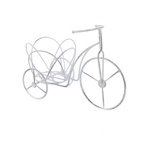 Kovový stojan na květináč InArt Bike, bílý