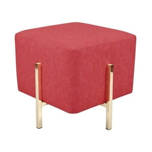 Červená stolička s nohami ve zlaté barvě Vivorum Liani