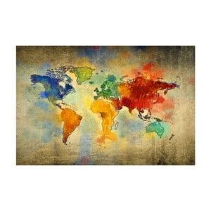 Tablou Homemania Maps World Drops, 70 x 100 cm