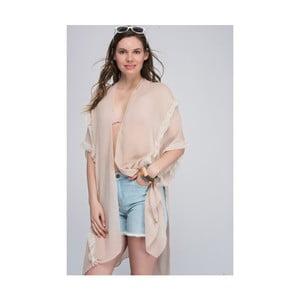 Béžová dámská tunika z čisté bavlny NW