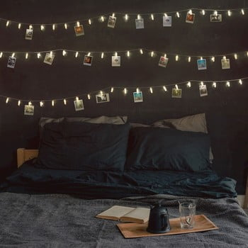 Ghirlandă luminoasă cu LED, beculețe în formă de clești DecoKing, 40 beculețe, lungime 6,35 m, transparent imagine