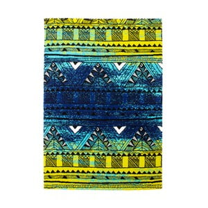 Koberec Aztec, green/blue, 160x230 cm