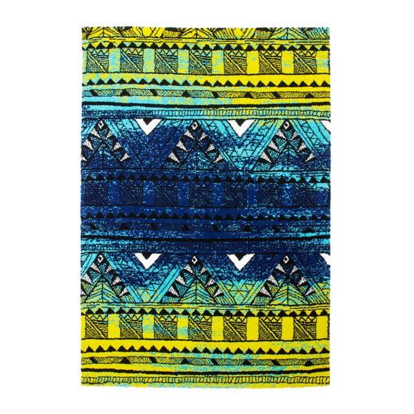 Koberec Aztec, green/blue, 80x150 cm