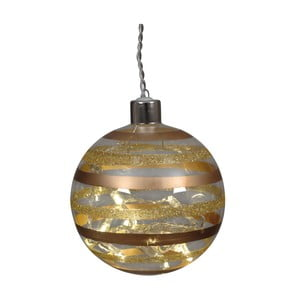 Sada 2 skleněných vánočních baněk zlaté barvy Naeve, Ø 10 cm