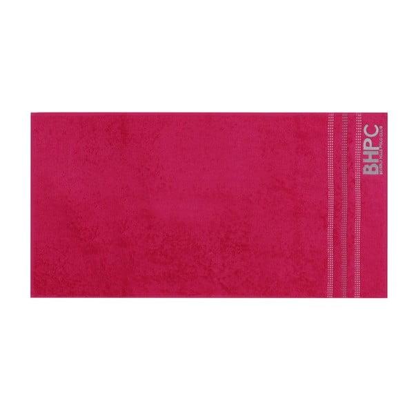 Sada mátově zeleného a fuchsiově růžového ručníku Beverly Hills Polo Club Stripes, 90x50 cm