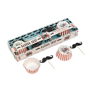 Set na pečení muffinů Rex London Moustache