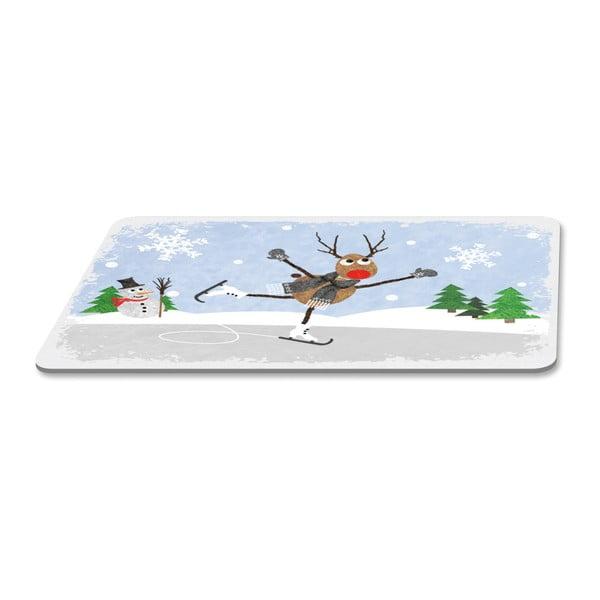 Podnos s vánočním motivem PPD Winter Tale, 23,3 x 14,3 cm