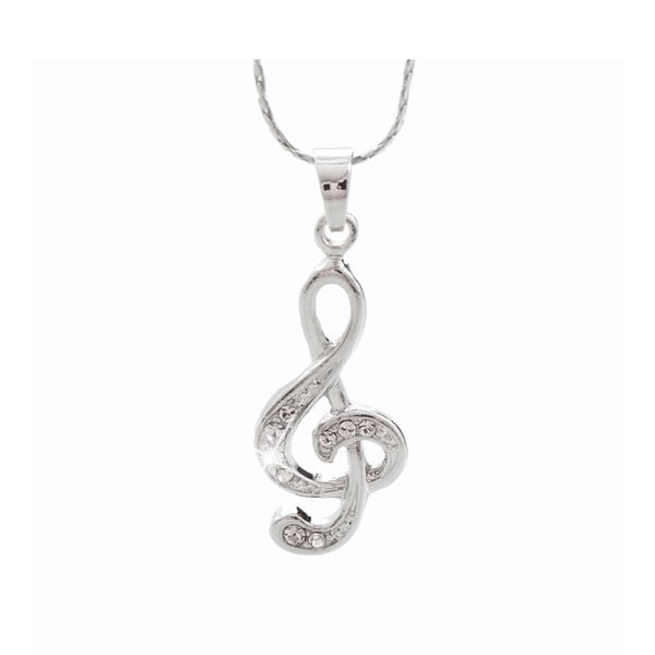 Musical ezüstszínű nyaklánc Swarovski Elements kristályokkal - Laura Bruni