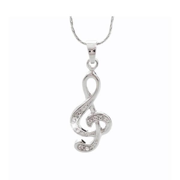 Naszyjnik w kolorze srebra ze Swarovski Elements Laura Bruni Musical