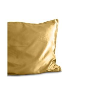 Față de pernă din micropercal Sleeptime Skin Care, 60 x 70 cm, auriu