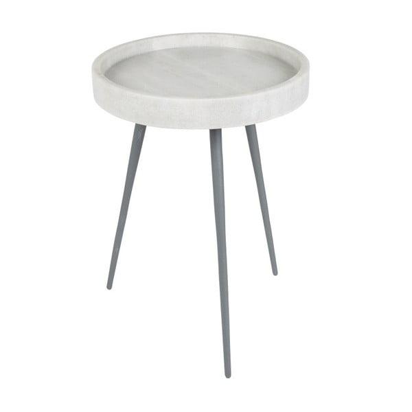 Bílý odkládací stolek Zuiver Karrara