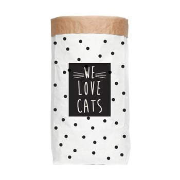Sac depozitare din hârtie reciclată Really Nice Things Love Cats imagine