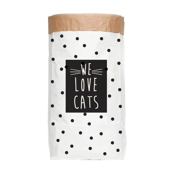Sac depozitare din hârtie reciclată Really Nice Things Love Cats