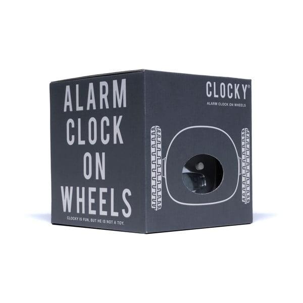 Clocky, budík na kolečkách, chrome