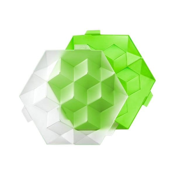 Zielona silikonowa forma do kostki lodu Lékué Giant Ice Cube