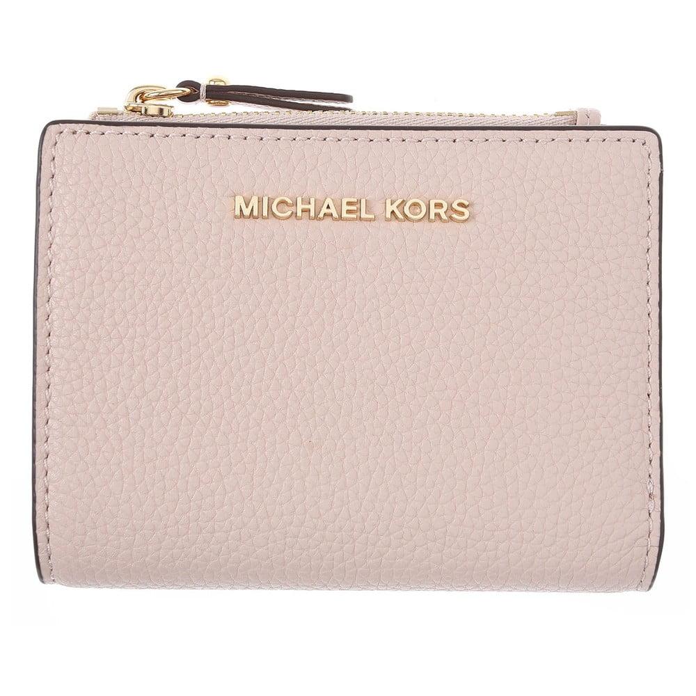 Světle růžová kožená peněženka kabelka Michael Kors Pretty