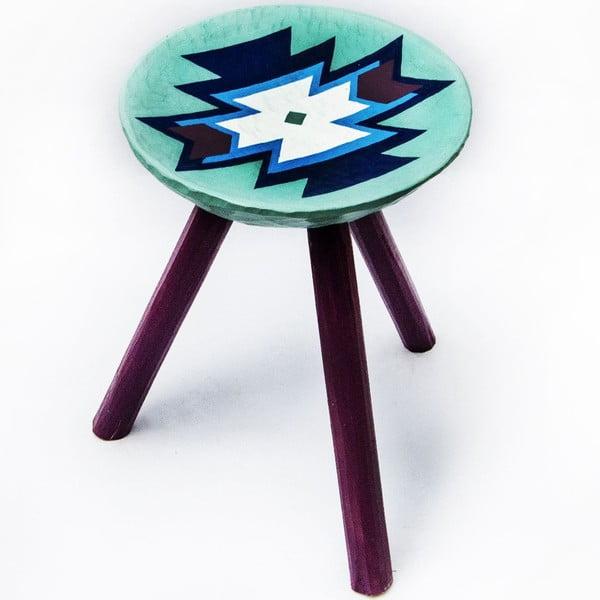 Ručně malovaná stolička Biertan, 38 cm