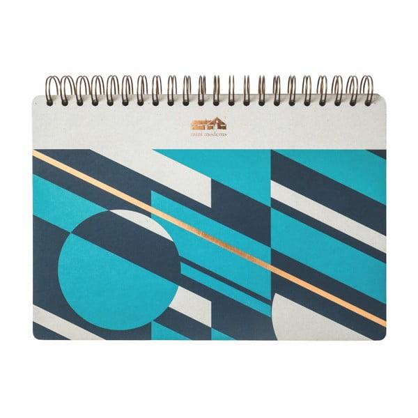 Geometrico jegyzetfüzet, 100 oldalas - Portico Designs