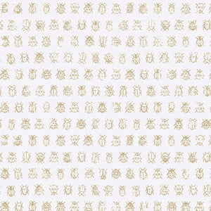 Bílá vliesová tapeta Pip Studio Bugs