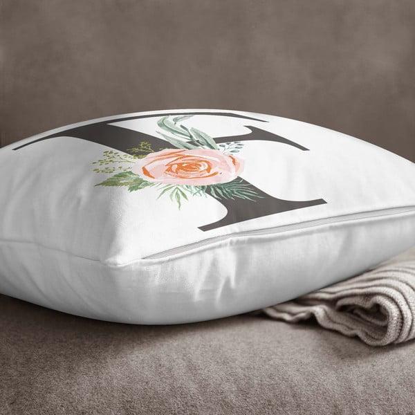 Față de pernă Minimalist Cushion Covers Floral Alphabet F, 45 x 45 cm