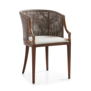 Židle ze dřeva z cedrového dřeva a ratanu Moycor