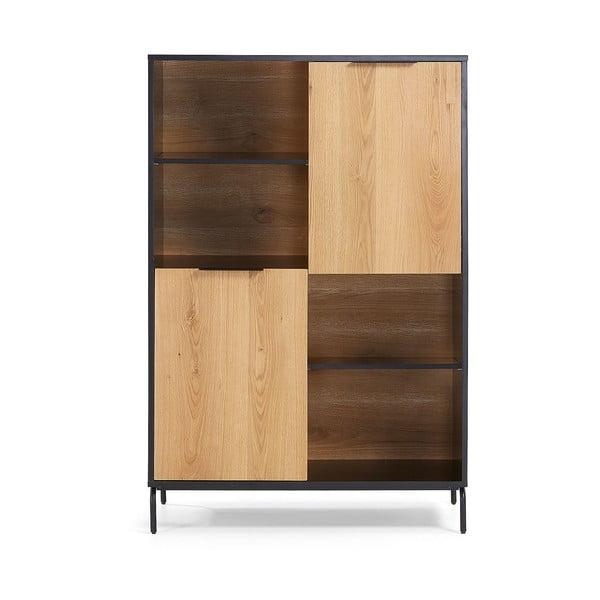 Bibliotecă La Forma SAVOI, 100 x 150 cm, maro-negru
