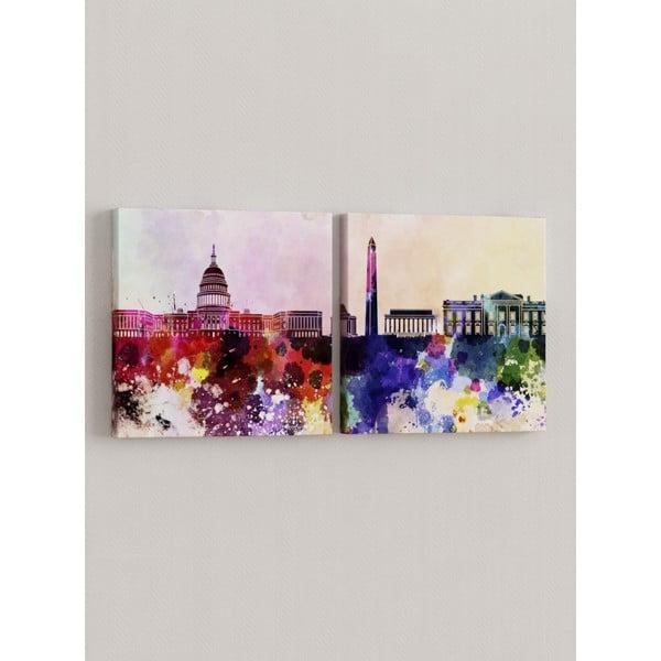 Sada 2 obrazů Město v barvách