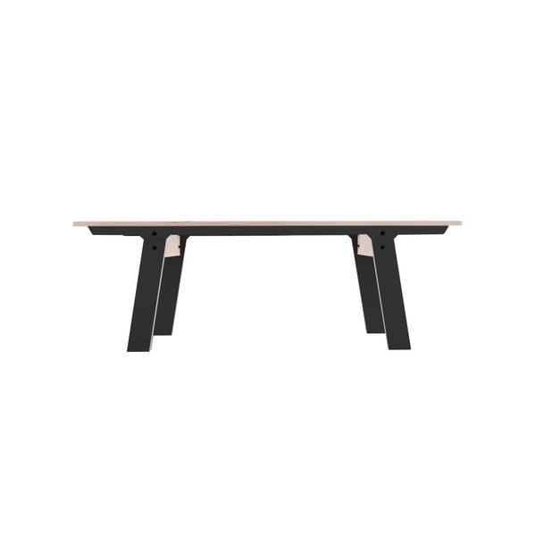 Černá lavice na sezení rform Slim 01, délka 133 cm