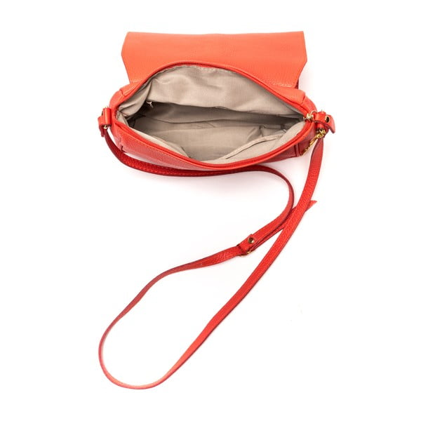 Kožená kabelka Ariela, červená