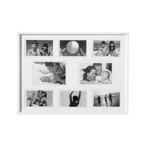 Dřevěný rámeček na fotky, bílý
