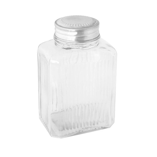 Skleněná dóza Clear Jar, 19 cm