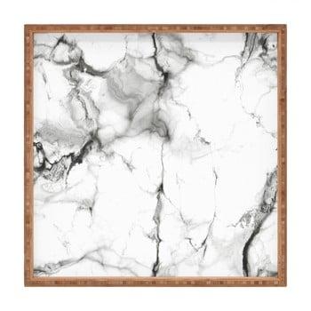 Tavă decorativă din lemn Marble, 40x40cm de la Unknown