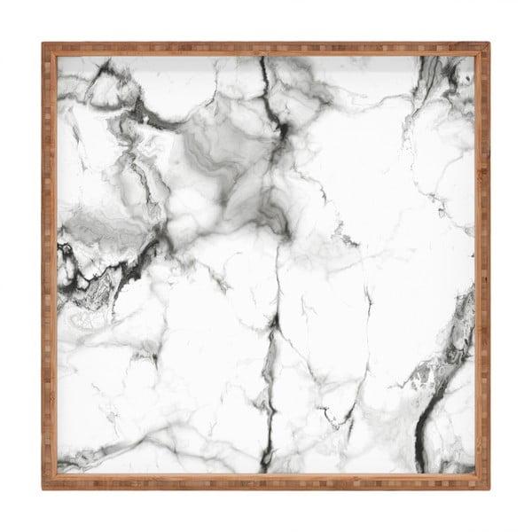 Tavă decorativă din lemn Marble, 40x40cm