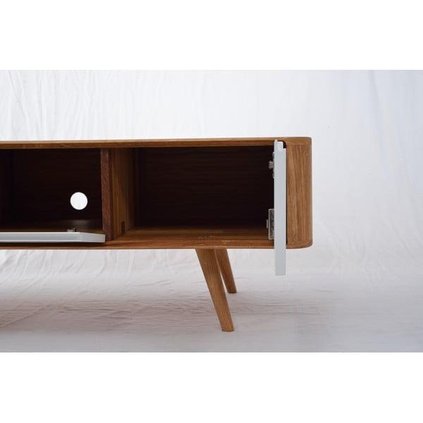 Televizní stolek z dubového dřeva Ena, 135x55x45cm