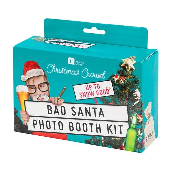 Vánoční set na fotostěnu Talking tables Bad Santa