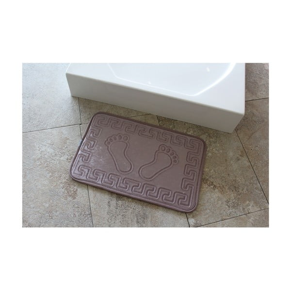 Fialová koupelnová předložka Ayakizi, 60 x 40 cm
