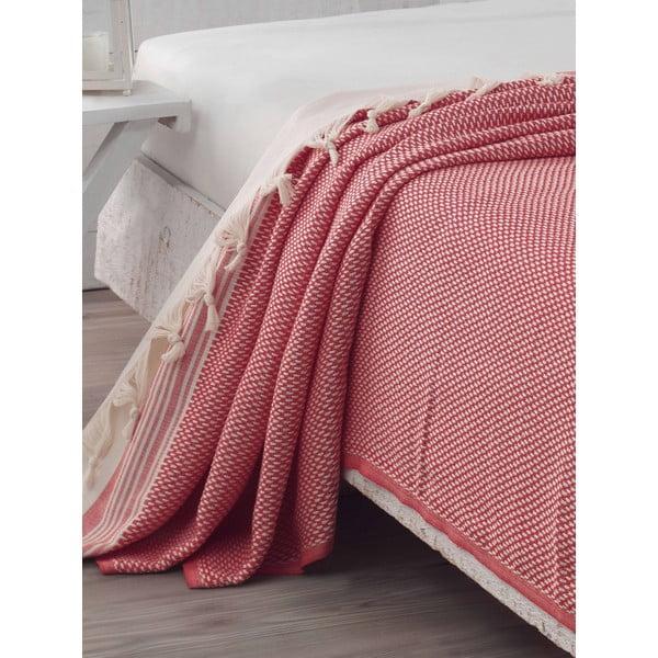 Přehoz přes postel Hasir Red, 200x240 cm