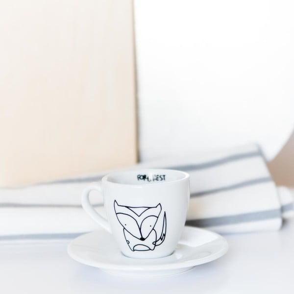 Hrneček na espresso s podšálkem FOR.REST Design Fox,100ml