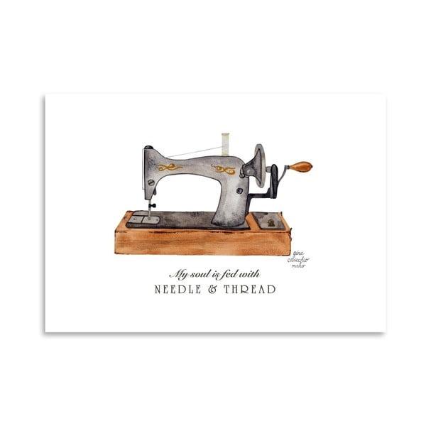 Autorský plakát Sewing Machine, 30x42 cm