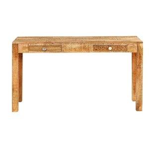 Konzolový stolek z masivního mangového dřeva Massive Home Ella