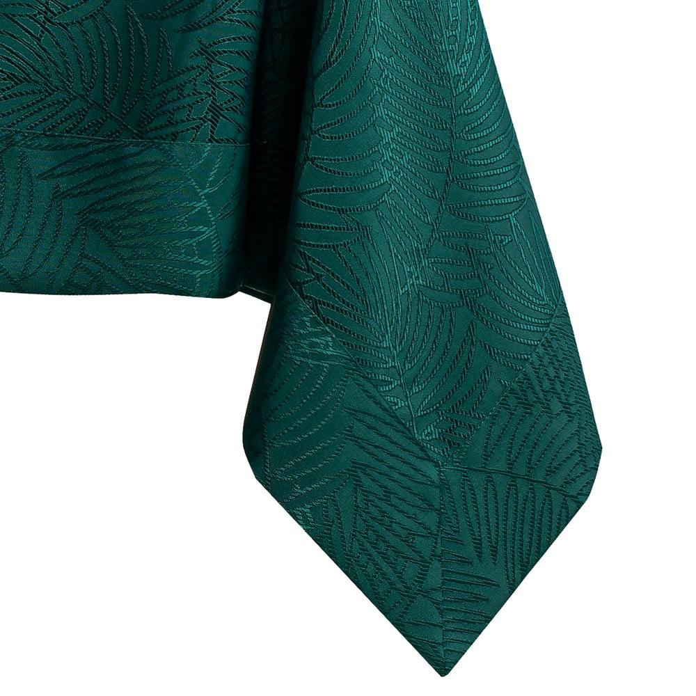 Tmavě zelený ubrus AmeliaHome Gaia Bottle Green, 110 x 160 cm