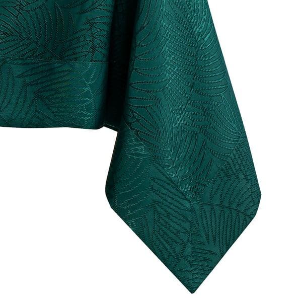Tmavě zelený ubrus AmeliaHome Gaia Bottle Green, 140 x 180 cm
